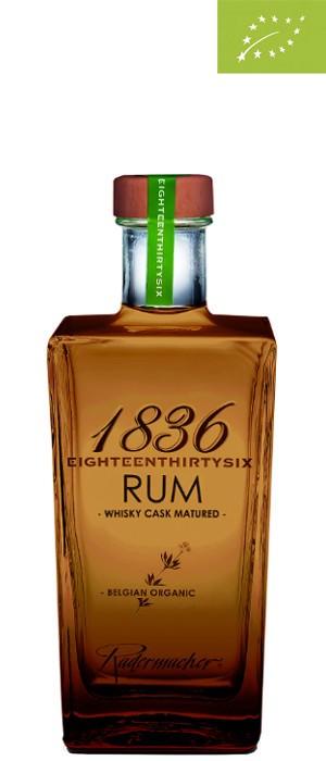 1836 Organic Barrel Aged Rum 40% vol. 0,7-l